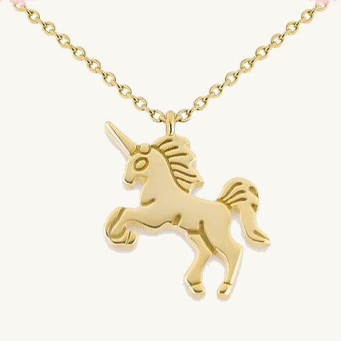 Image of Unicorn Pendant Necklace
