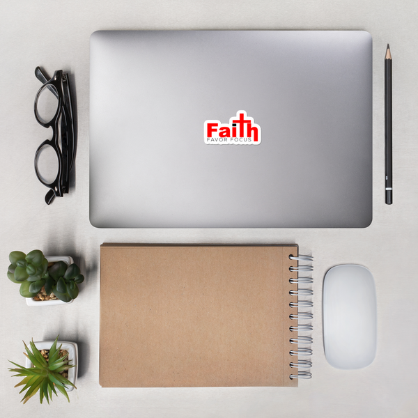 Faith Favor Focus Bubble-free stickers