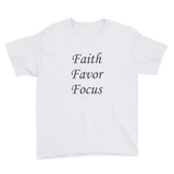 Faith Favor Focus Youth Short Sleeve T-Shirt