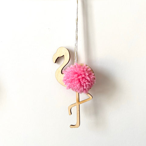 Flamingo Pom Pom Bauble/Bunting Kit