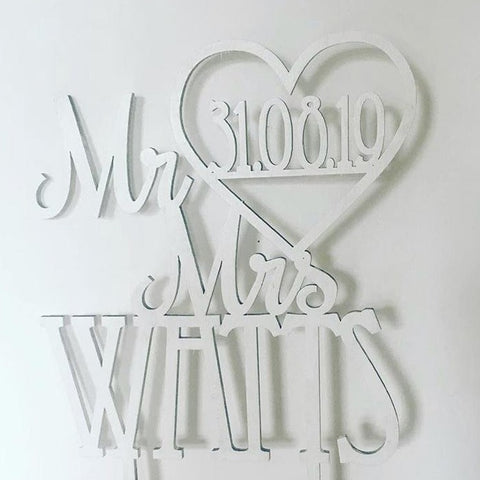 Mr & Mrs 'Name' Topper