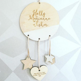 Personalised Hanging with Pendant Charms