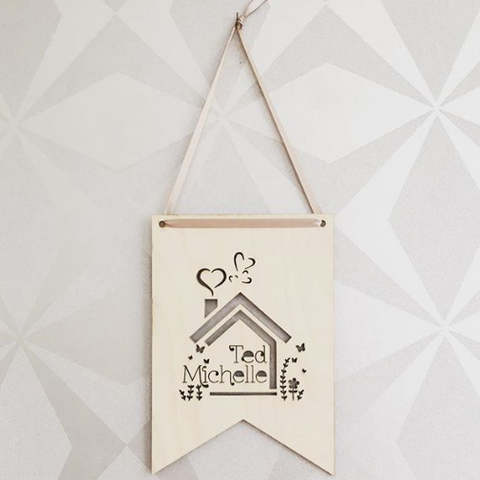 'New Home' wooden hanging