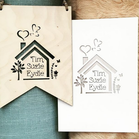 Laser Cut New Home Card