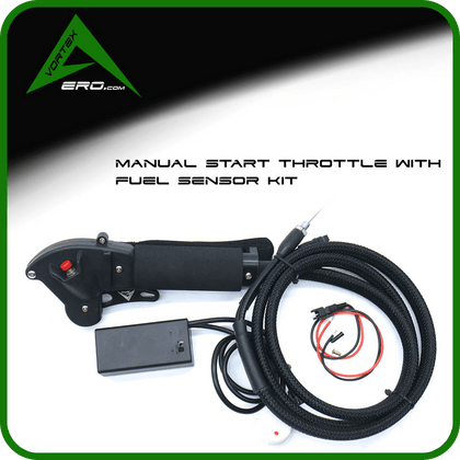 Vortexaero Kit Manual Start Throttle-Trigger/ 2 Finger w/Fuel sensor