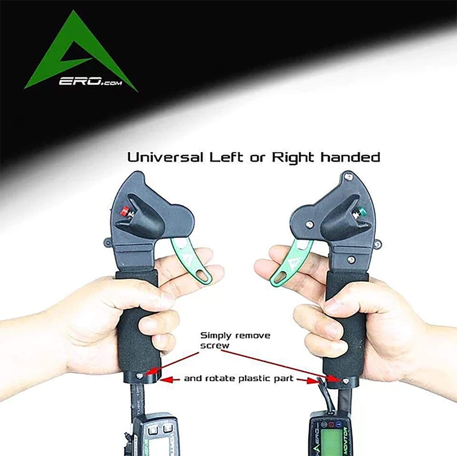 Vortexaero Left or Right handed Manual Start Throttle-Trigger/2 Finger w/Meter