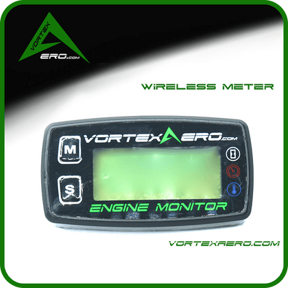 Vortexaero Wireless Engine Monitor, CHT/RPM/HOUR-For XC throttle ONLY