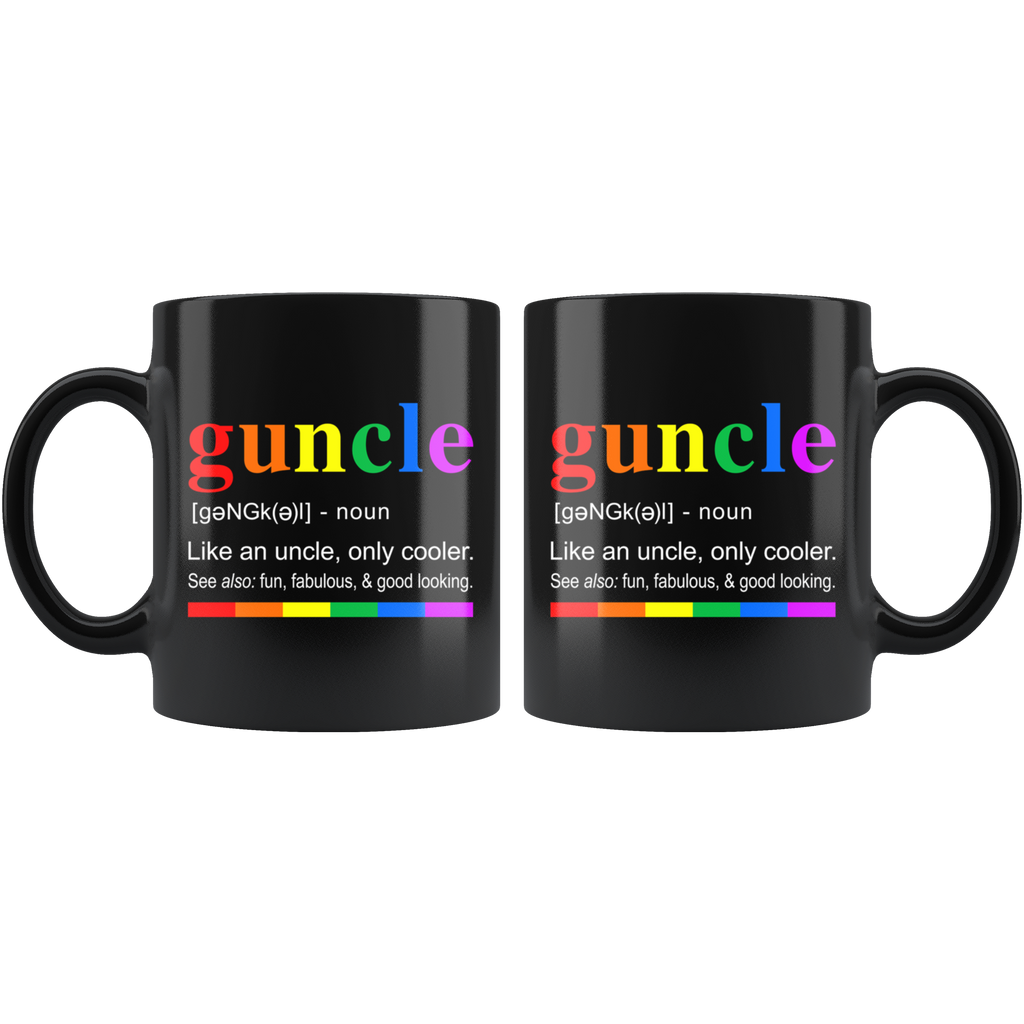 Guncle Definition Funny Gay Uncle Cooler Fabulous Mugs