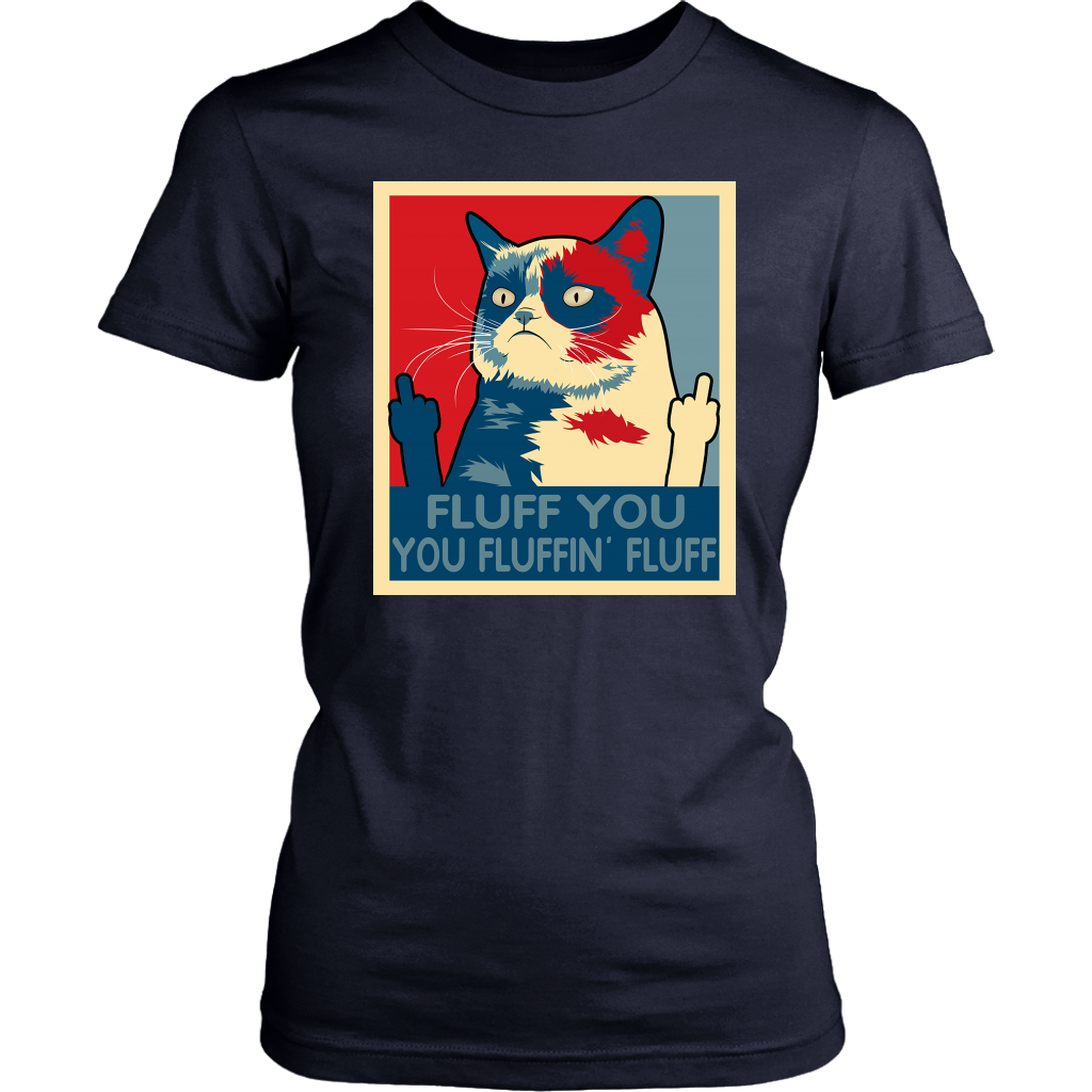 Retro Fluff You You Fluffin' Fluff Cat Kitten shirt