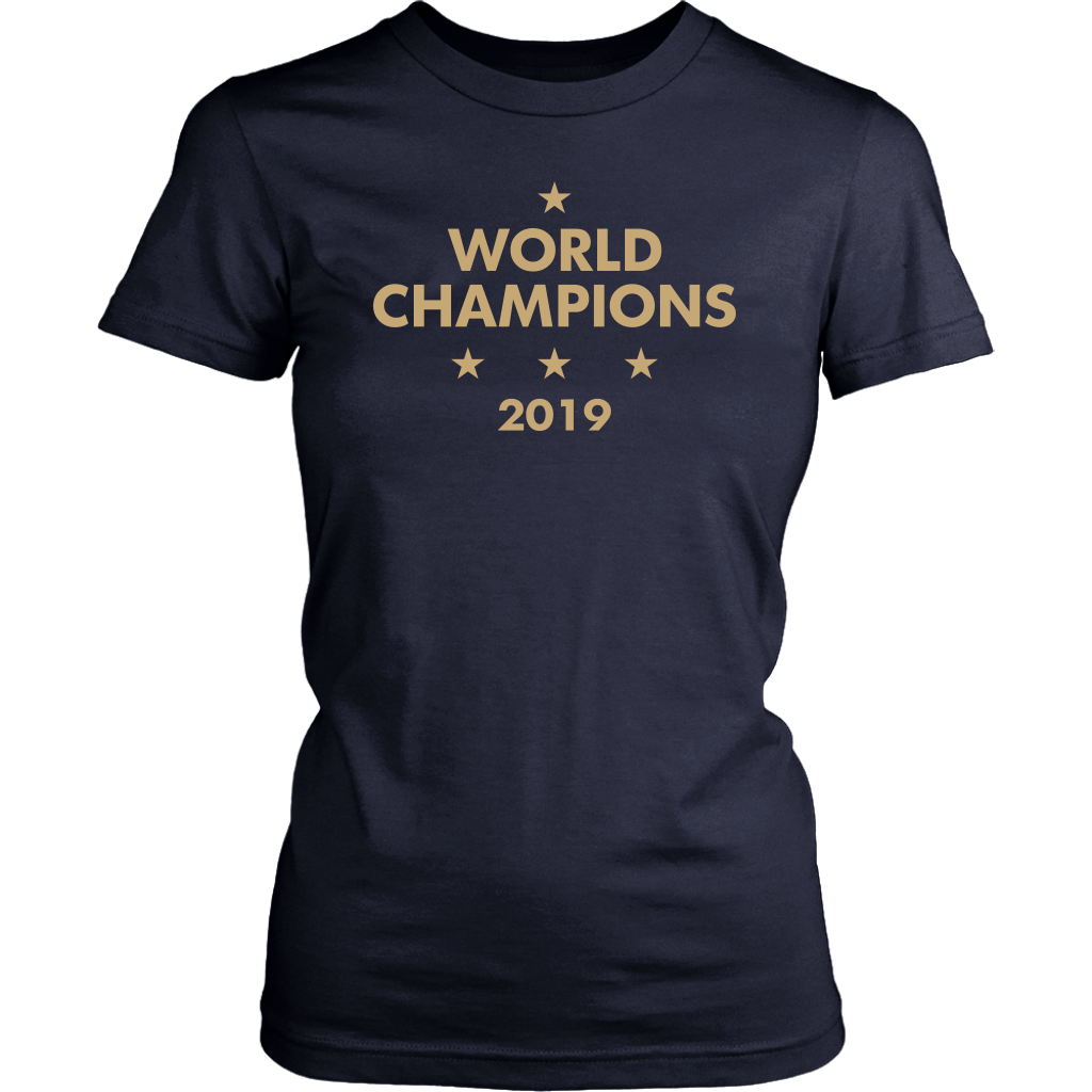 USA Women's Soccer Football Team Win World Champions Four Title 2019 shirt