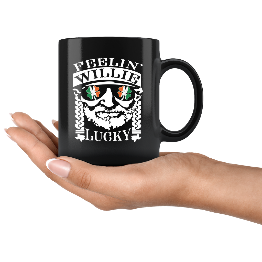 Feelin Willie Lucky Shamrock St Patricks Day Irish Flag Mug Coffee