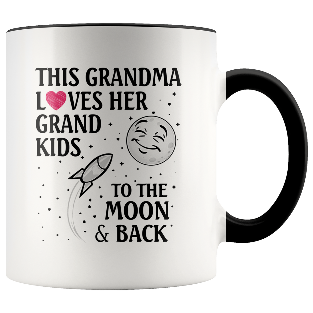 This Grandma Loves Her Grandkids To The Moon and Back mugs