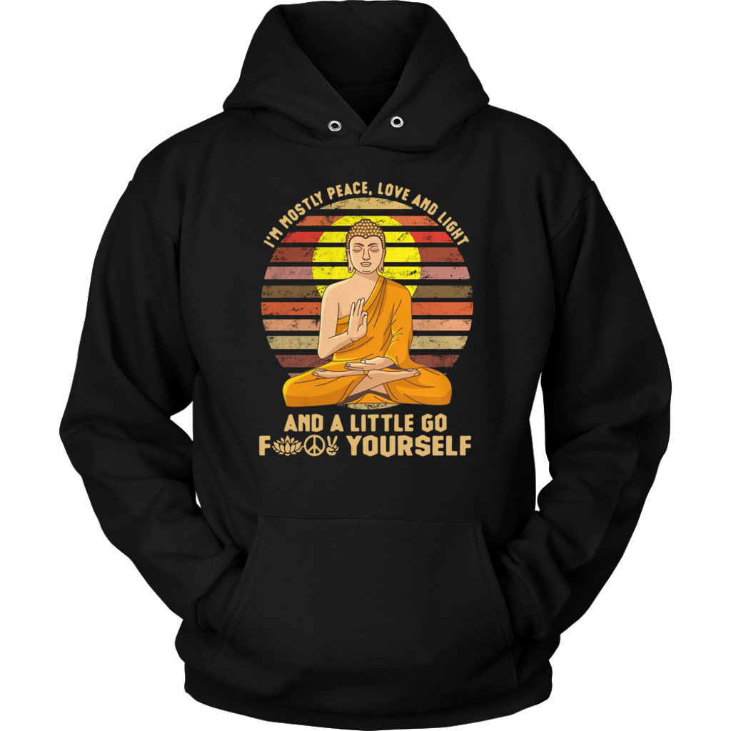 I'm Mostly Peace Love Light and a Little Go Yoga T-shirt