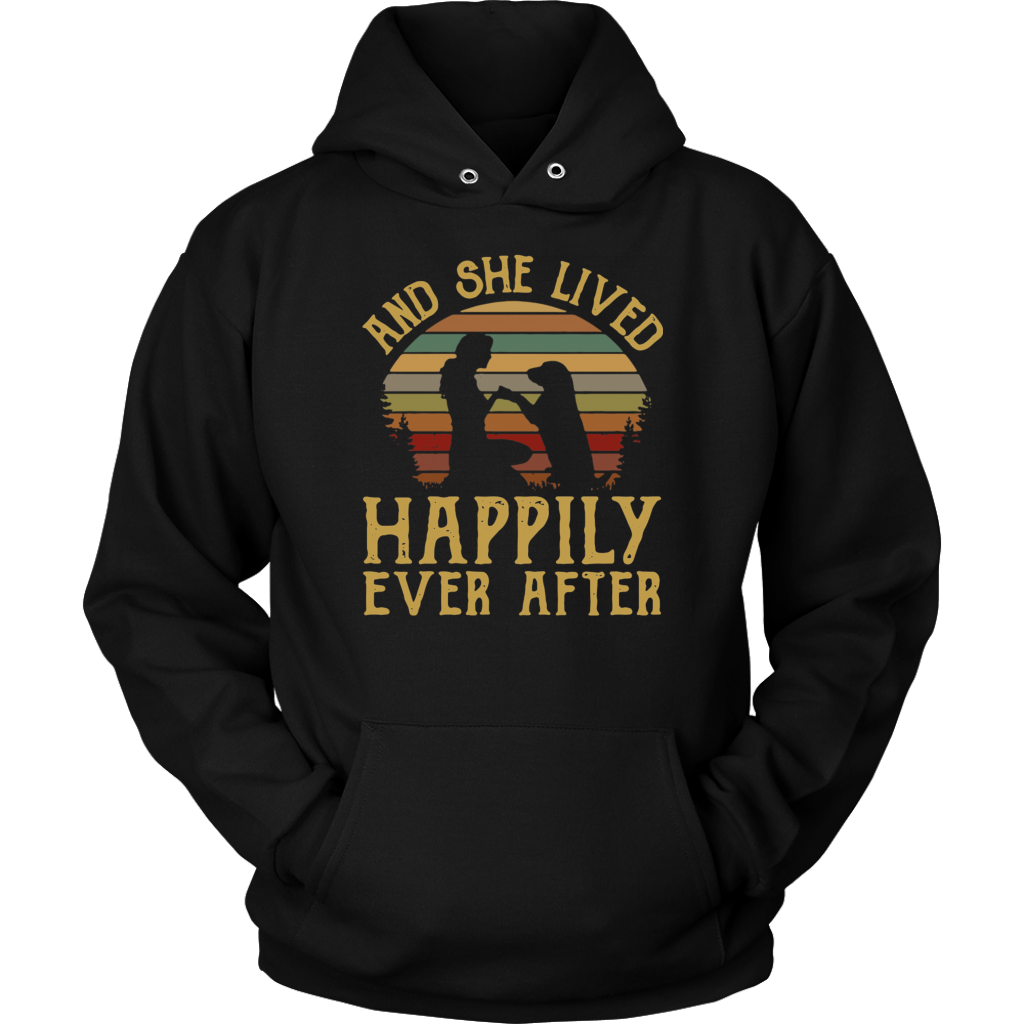 Retro vintage And She Lived Happily Ever After Dog shirt