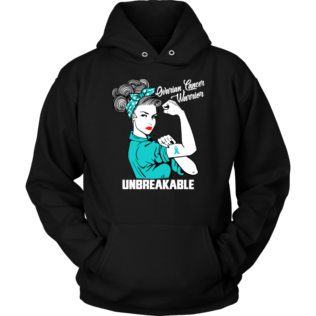 Ovarian Cancer Warrior Unbreakable Awareness T-Shirts