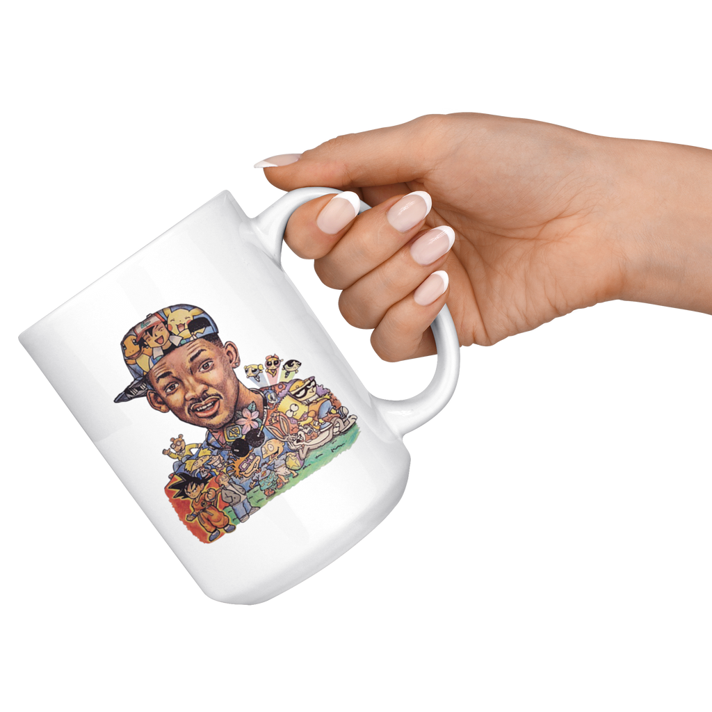 The Fresh Prince Of Bel Air Will Smith 90s Cartoon Mug Coffee