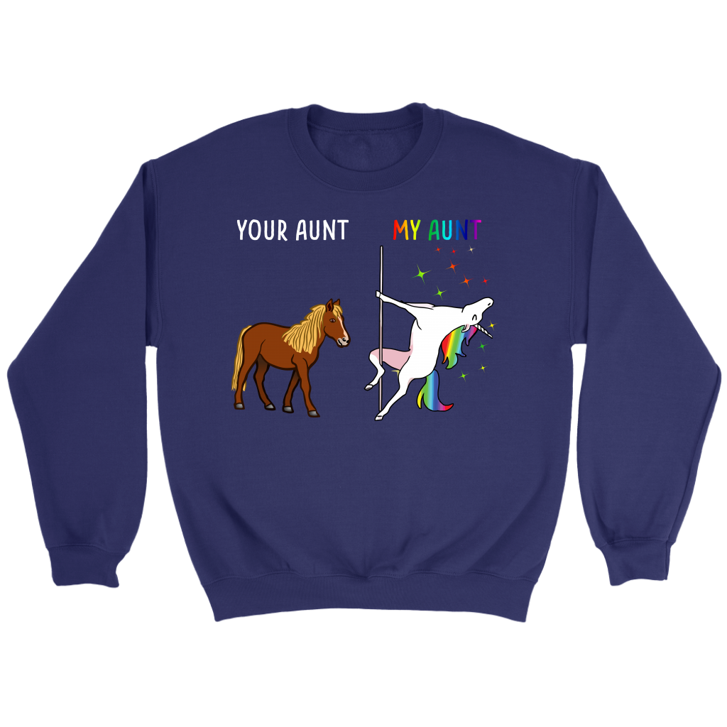 Your Aunt My Aunt You Me Dancing Unicorn shirt