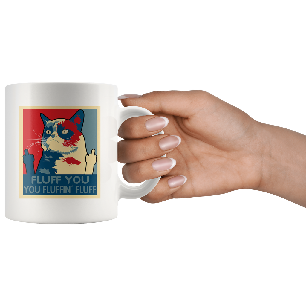 Retro Fluff You You Fluffin' Fluff Cat Kitten mugs cup coffee
