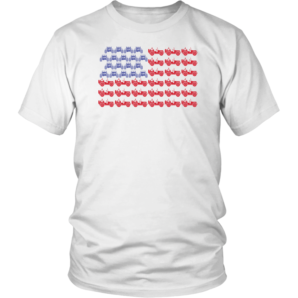 American Flag Jeep Shirt Jeep Offroad Lover T-Shirt