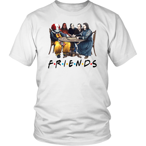 Stephen King Horror Characters Friends T Shirt Halloween Gift