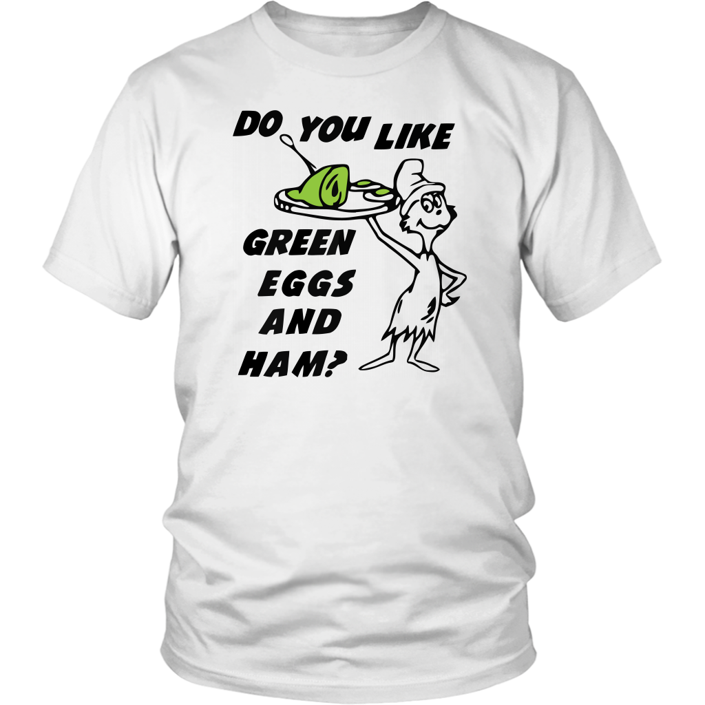 Do you like green eggs and ham t-shirt st patricks day