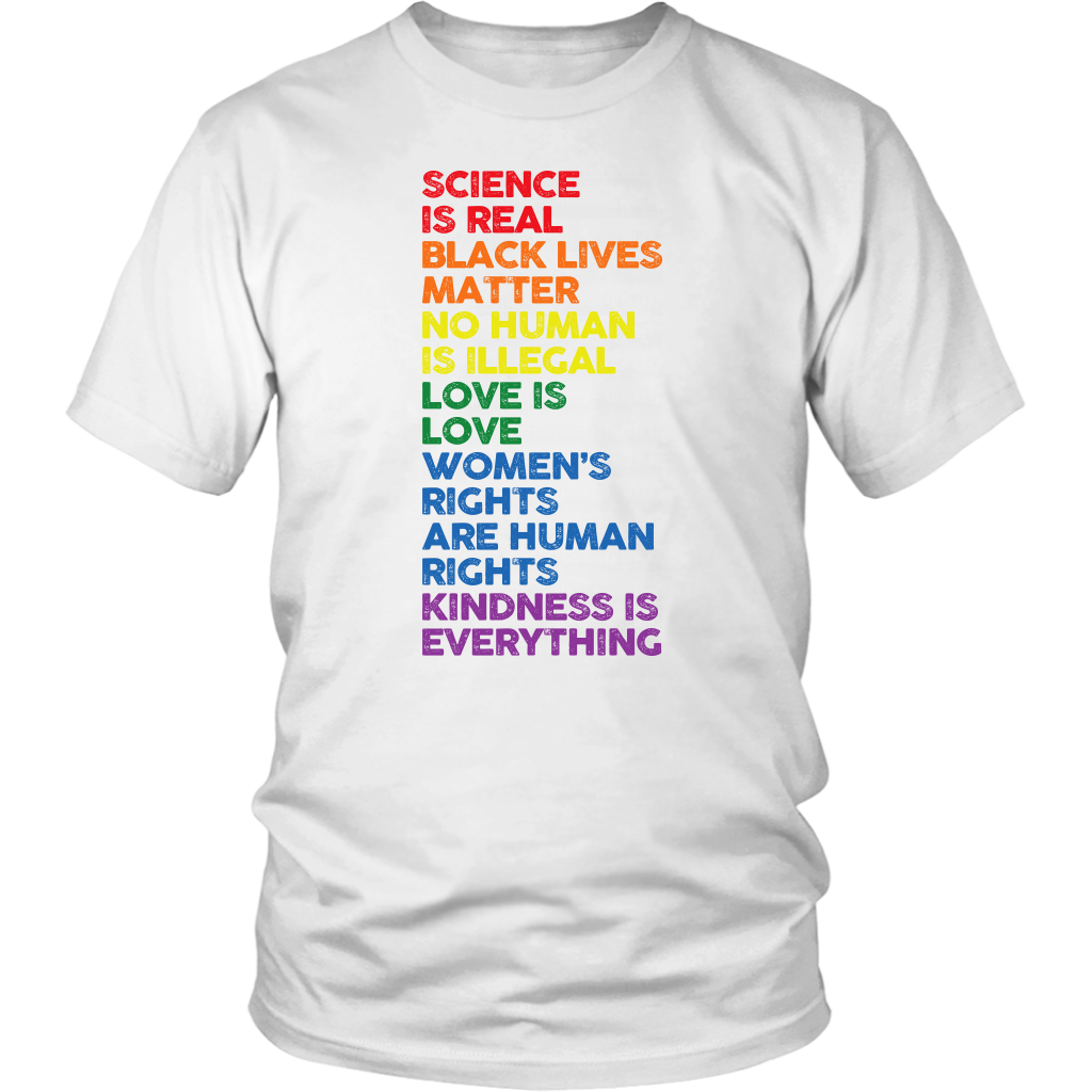 Distressed Science Is Real Black Lives Matter Pride T Shirt