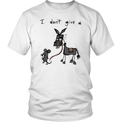 Funny I Don't Give A Rats Ass Mouse Walking Donkey shirt