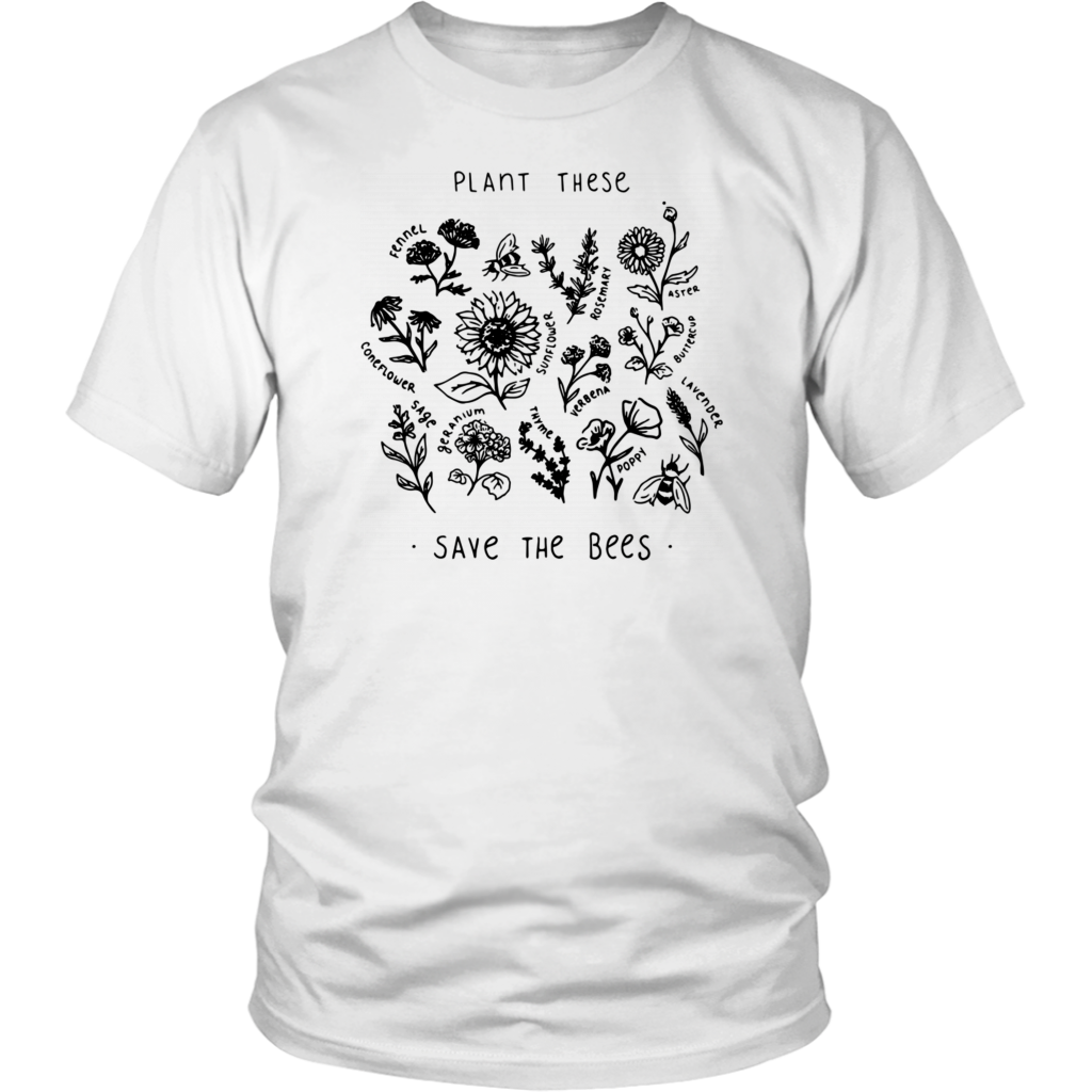 Plant These Save The Bees Shirt Flowers shirt