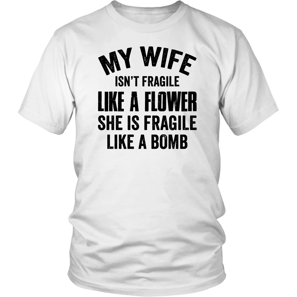 tee My Wife Fragile Like A BOBM Retro Vintage Funny Unisex Sweatshirt