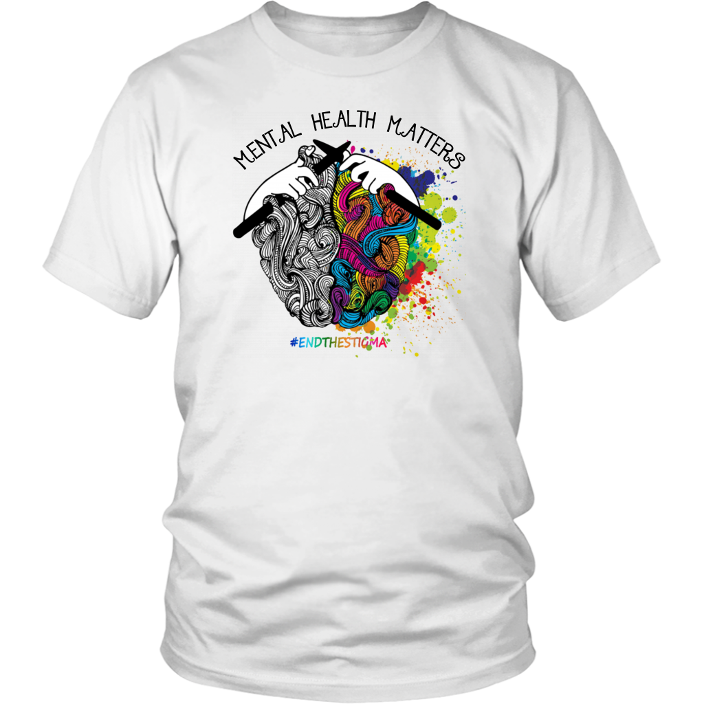 Mental Health Matters Awareness End The Stigma T-Shirt