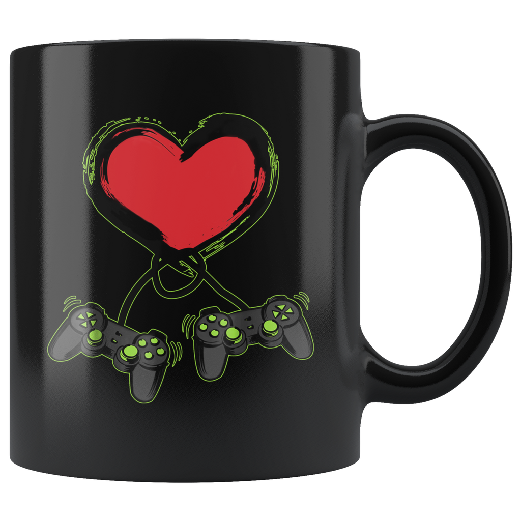 Video Gamer Heart Controller Valentine's Day Mug Coffee