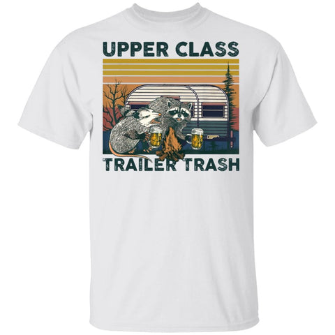 Upper Class Trailer Trash Raccoon shirts