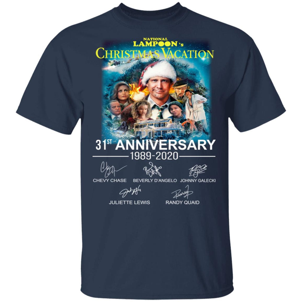 National Lampoon's Christmas Vacation 31st Anniversary 1989-2020 signatures shirts