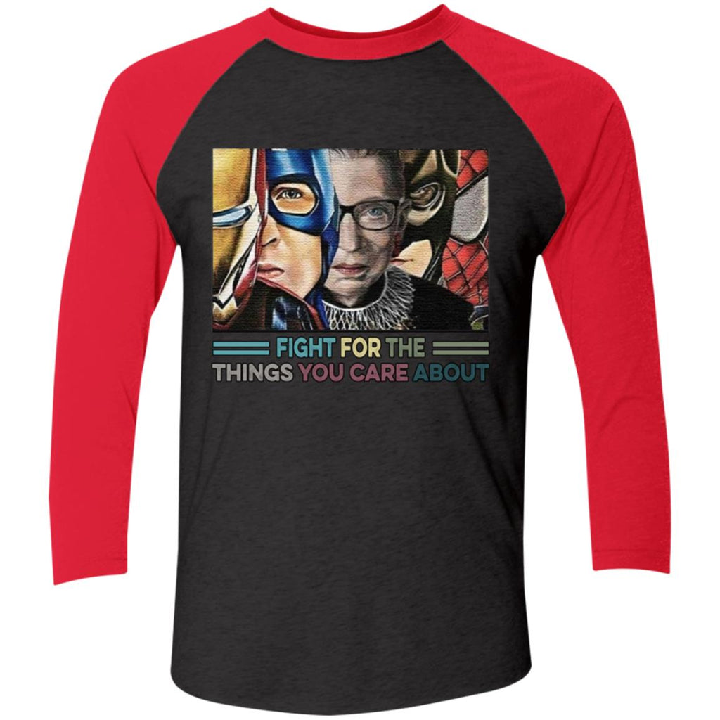 RBG Ruth Bader Ginsburg Fight For The Things You Care About Super Hero Avengers Shirts
