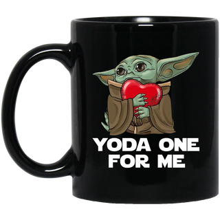 Baby Yoda Hug Heart Yoda One For Me Coffee Mug