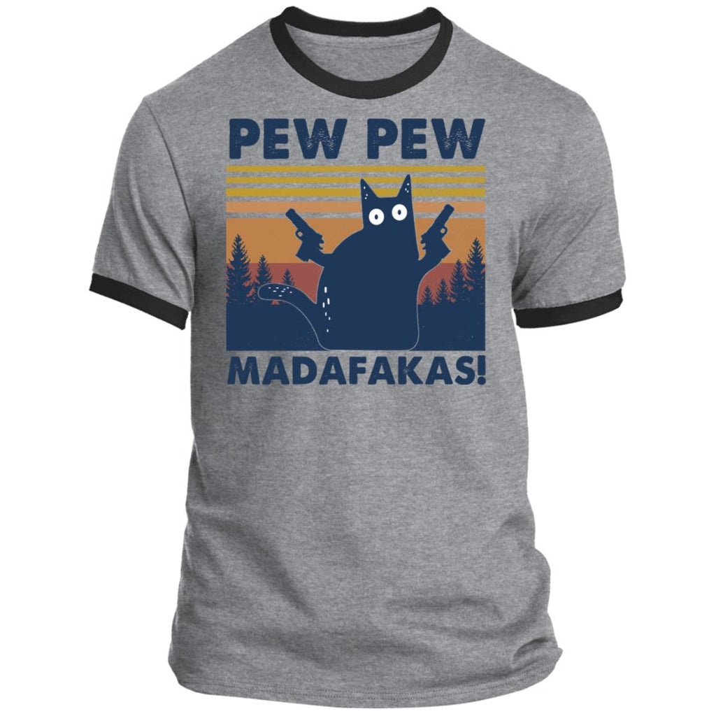 Black Cat Pew Pew Madafakas Vintage shirts