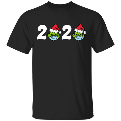 Christmas 2020 Grinch Santa Face Mask Quarantined shirts