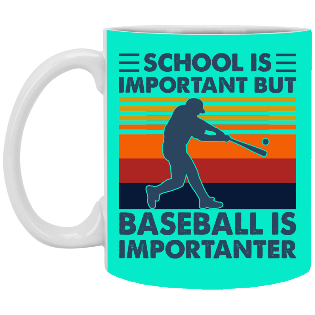 School is Important But Baseball is Importanter Mug