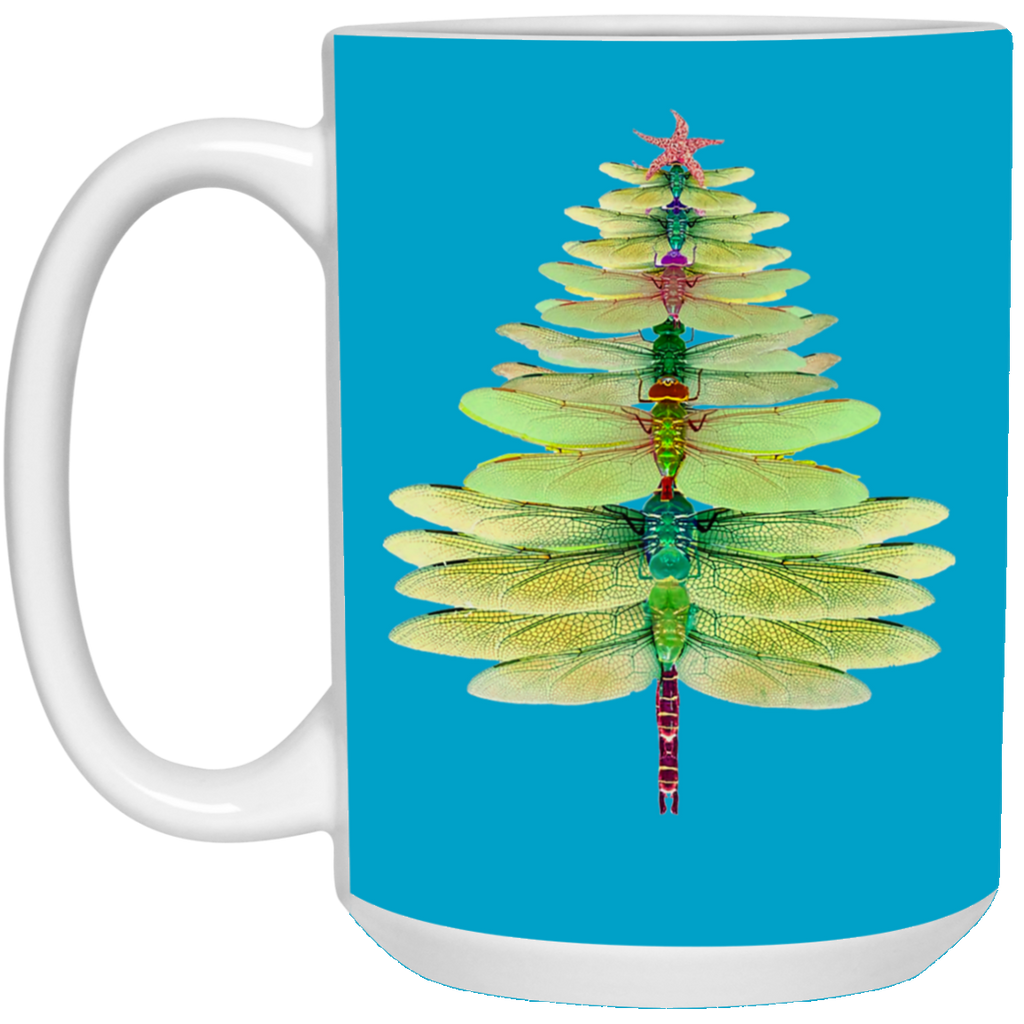 Dragonfly Christmas Tree Funny Dragonfly Mug Cup Coffee Funny Christmas