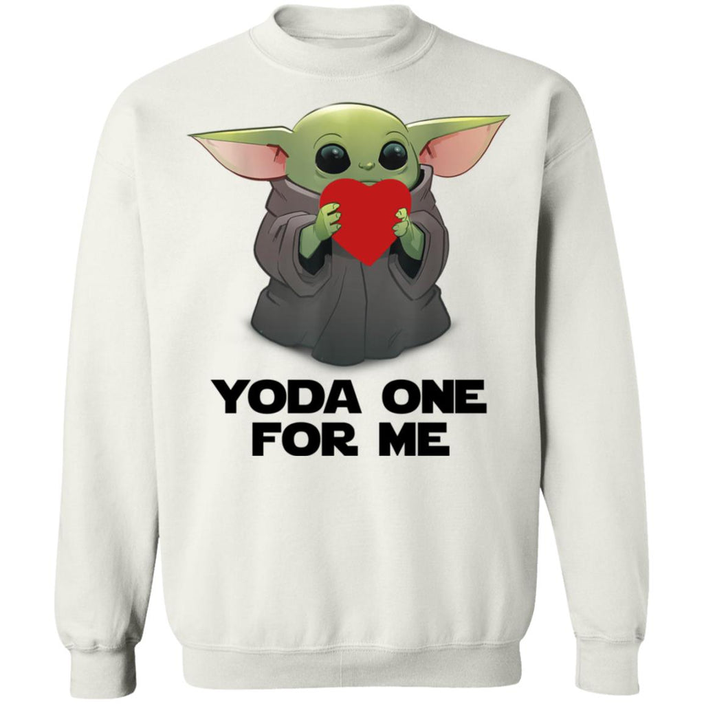 Baby Yoda Heart Yoda One For Me shirts Valentine's Gift