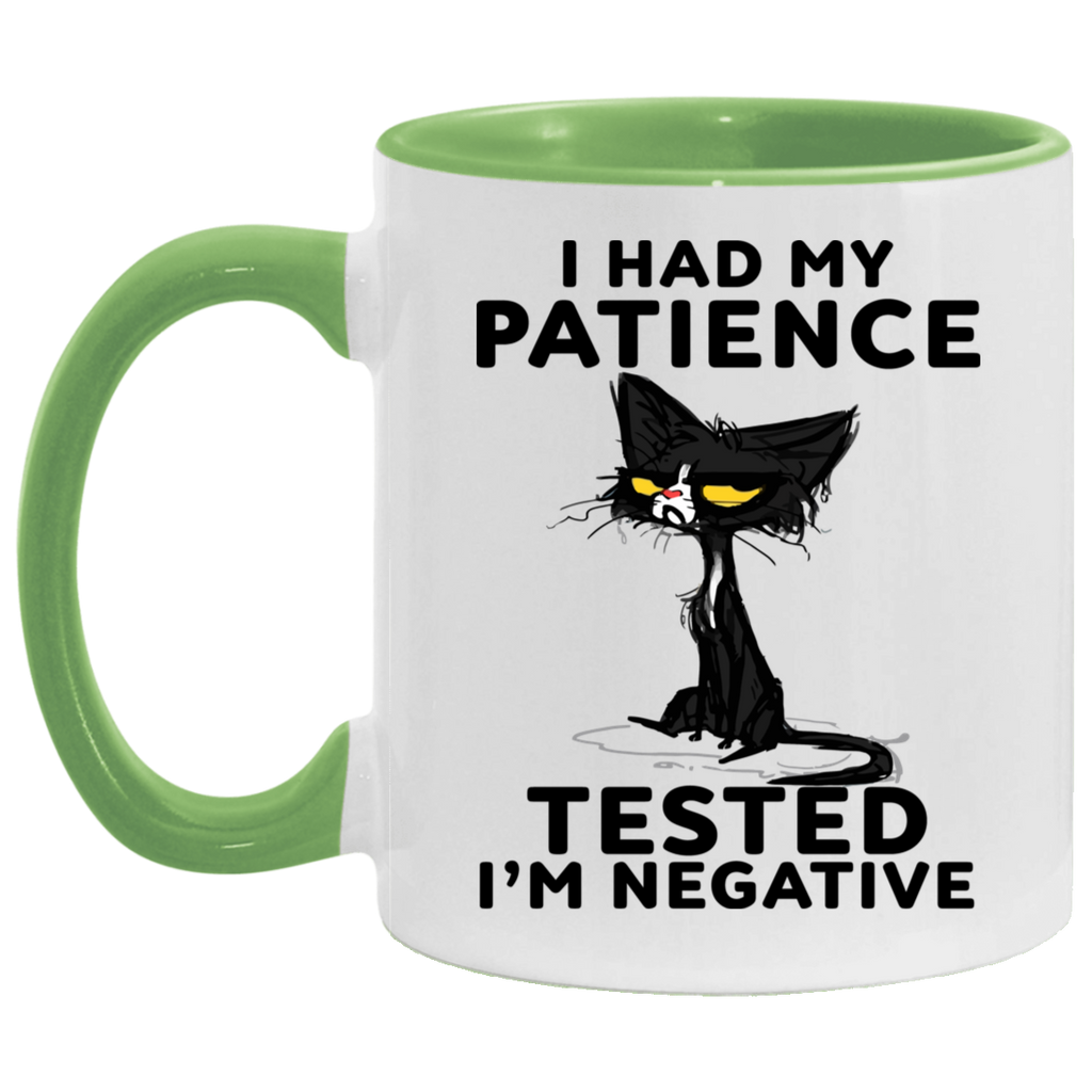Black Cat I Had My Patience Tested I'm Negative Mug