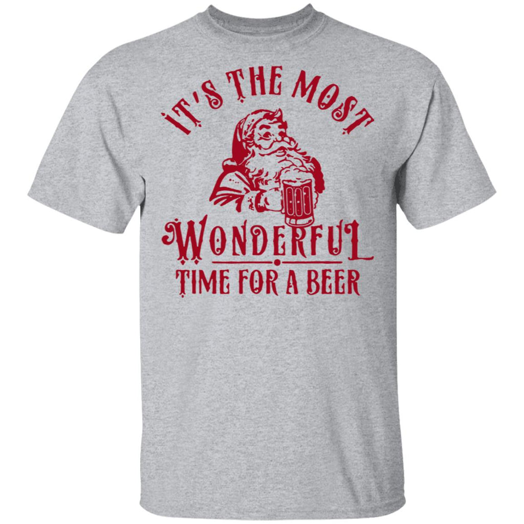 Santa Claus It's The Most Wonderful Time For A Beer Shirts