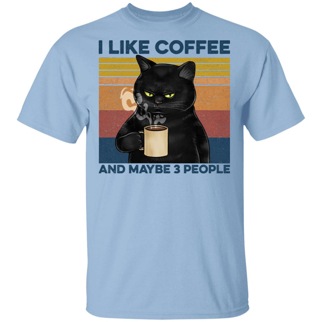 I Like People And Maybe 3 People Black Cat Funny Shirts