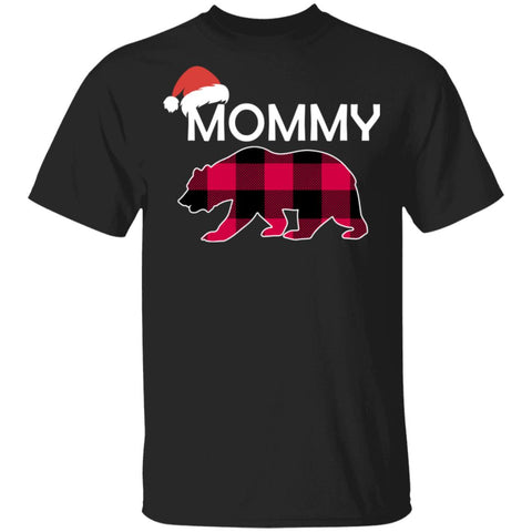 Mommy Bear Buffalo Plaid Christmas Shirts