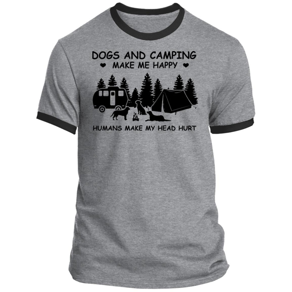 Dogs And Camping Make Me Happy Humans Make My Head Hurt shirts