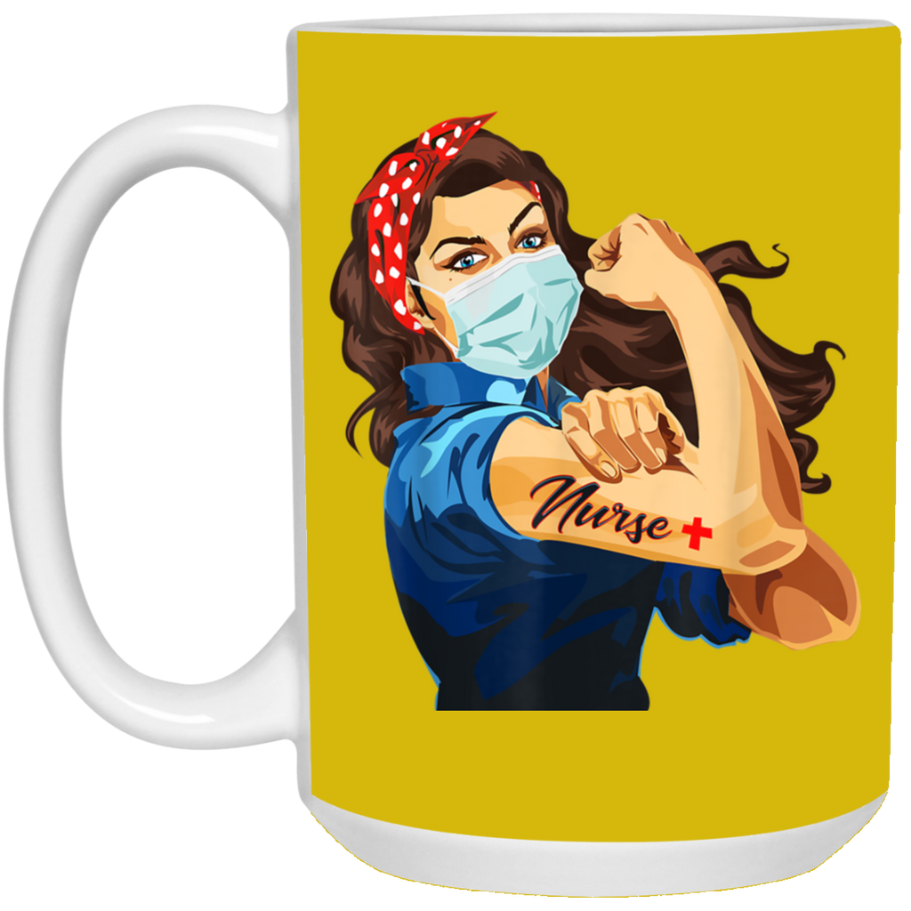 Rosie The Riveter Nurse Mug Cup Coffee Support Quarantine 2020