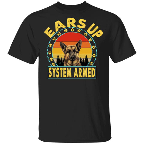 Ears up system armed German shepherd shirts