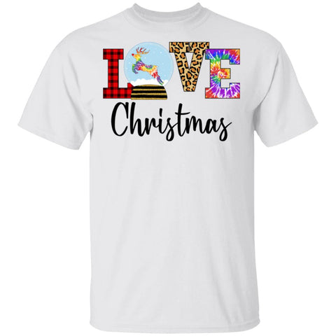 Love Christmas Reindeer Antlers Plaid shirts