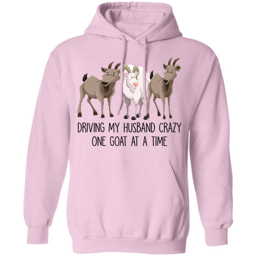 Driving My Husband Crazy One Goat At A Time shirts