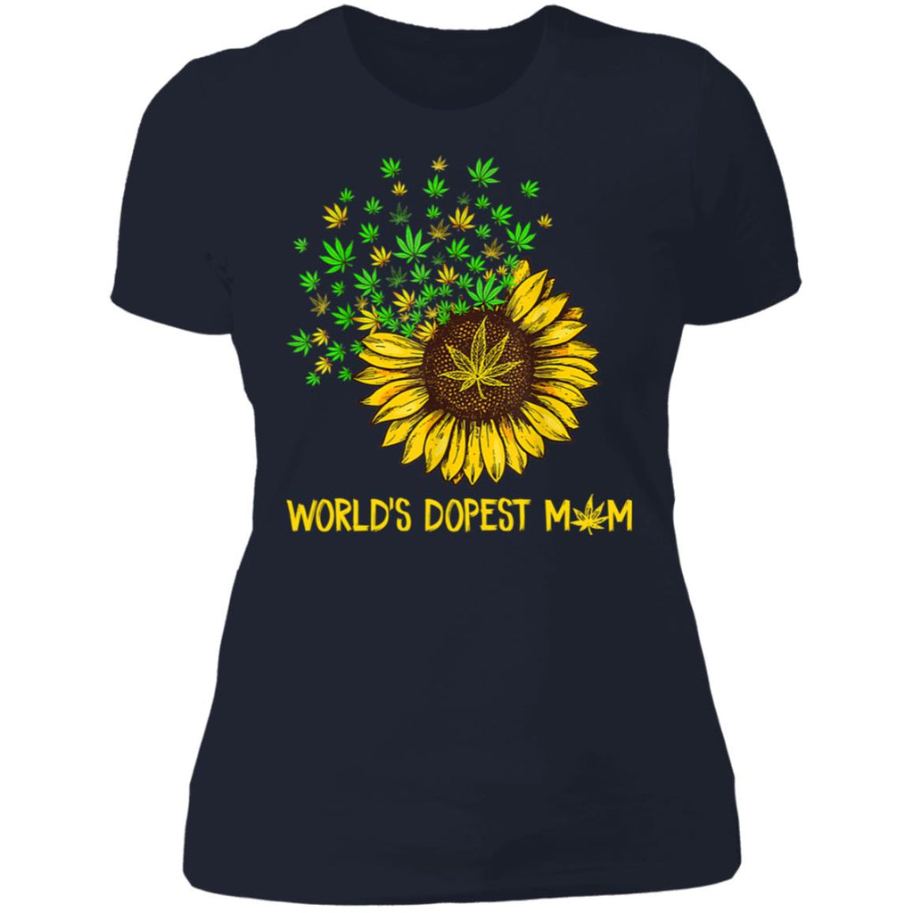 World's Dopest Mom Sunflower Weed shirts